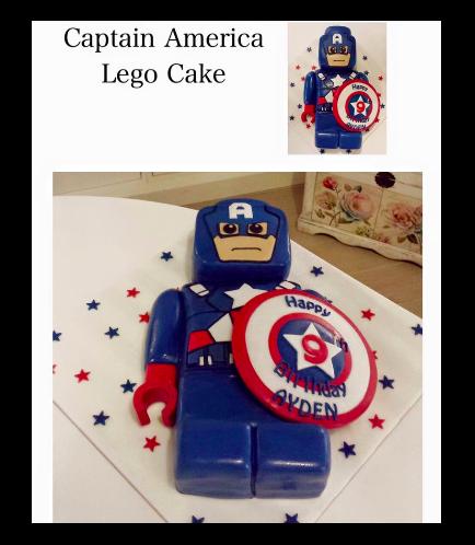 Captain America Themed Cake - LEGO - 3D Cake