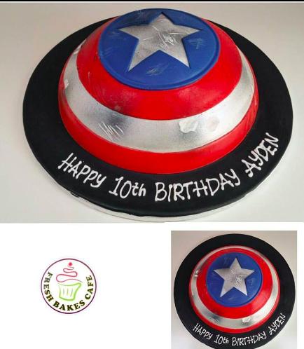 Captain America Themed Cake - Shield - 3D Cake