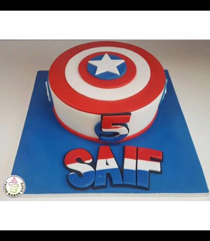 Captain America Themed Cake