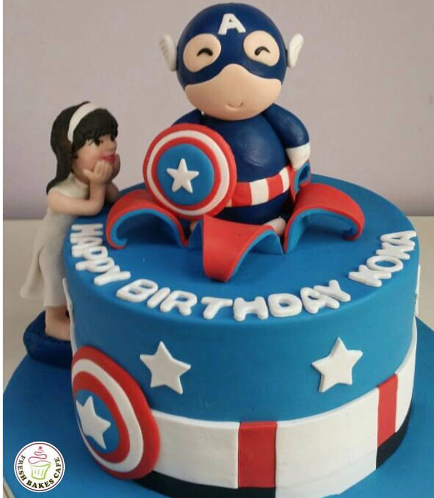 Captain America Themed Cake 05