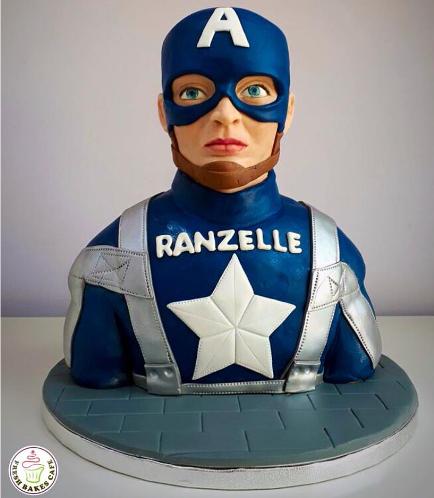 Captain America Themed Cake - 3D Cake 01a