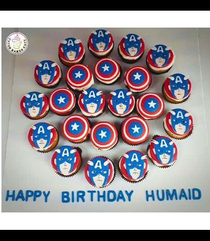 Captain America Themed Cupcakes