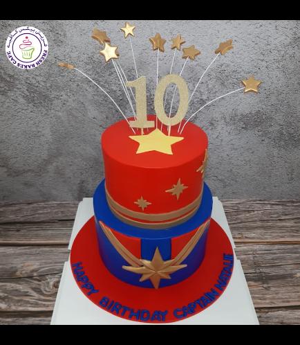 Captain Marvel Themed Cake