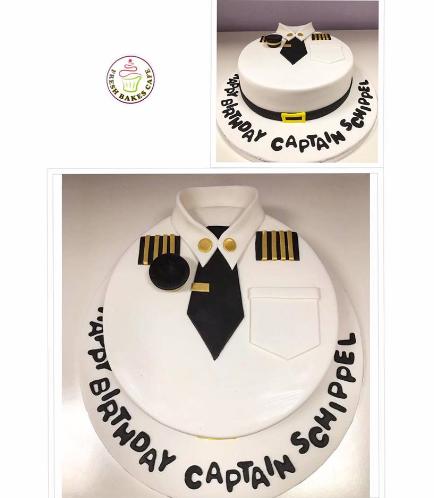 Captain Shirt Themed Cake 3