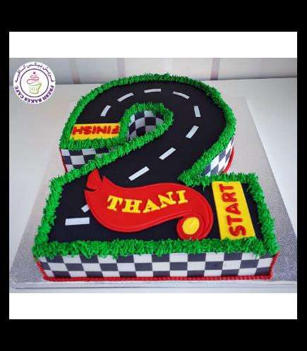 Car Race Track Themed Cake 03