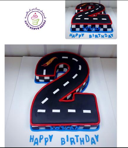 Car Race Track Themed Cake 05