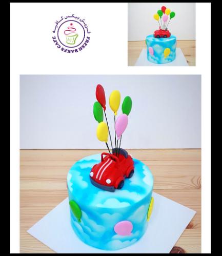 Car Themed Cake - 3D Cake Topper