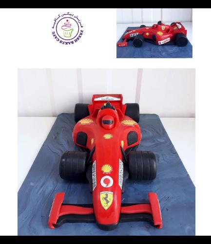 Car Themed Cake - Ferrari Car - 3D Cake 02