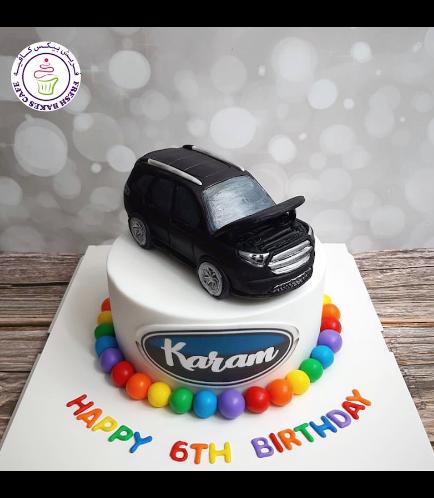 Car Themed Cake - Ford Explorer - 3D Cake Topper