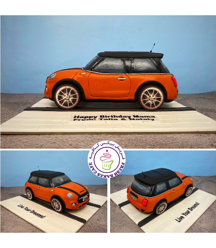 Car Themed Cake - Mini Cooper - 3D Cake