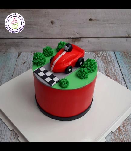 Car Themed Cake - Race Car - 3D Cake Topper 02