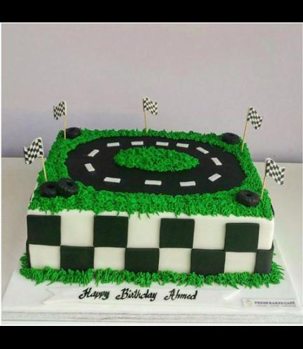 Car Themed Cake - Race Track