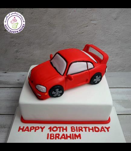 Car Themed Cake - Toyota MK4 - 3D Cake Topper