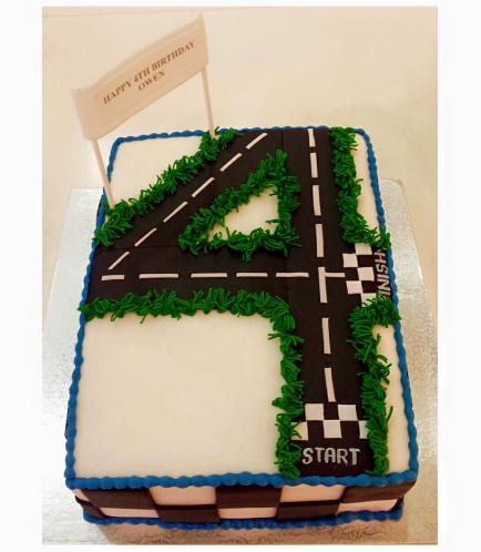 Car Race Track Themed Cake 01