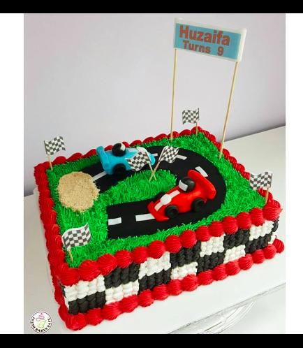 Car Race Track Themed Cake 02a