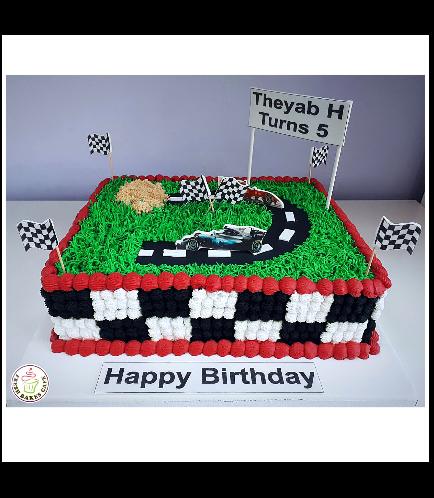 Car Race Track Themed Cake 02b