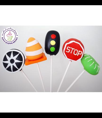 Car Themed Cake Pops - Hot Wheels