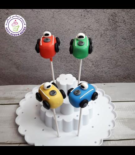 Car Themed Cake Pops - Race Cars 02
