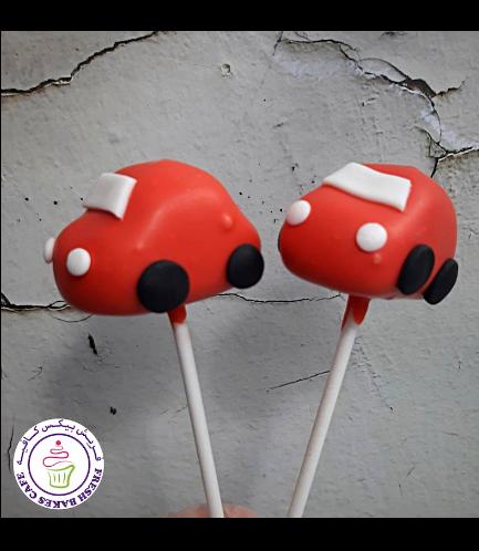 Car Themed Cake Pops - Red Car