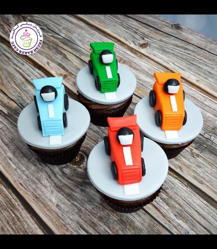 Car Themed Cupcakes - Race Cars 01
