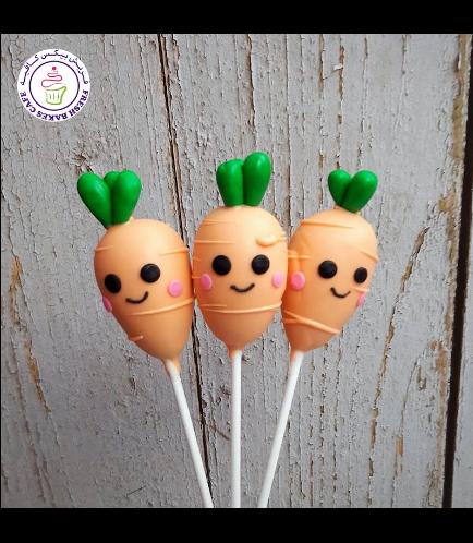 Carrot Themed Cake Pops