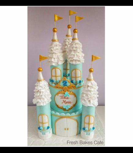 Cake - 2 Tier 02 - Blue