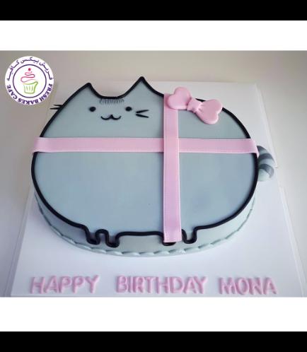 Cat Themed Cake - Pusheen - 2D Cake