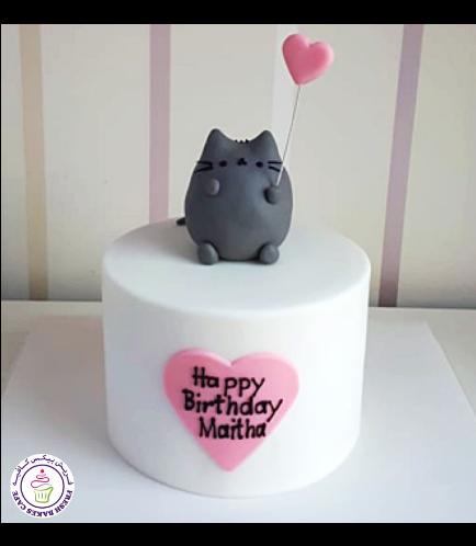 Cat Themed Cake - Pusheen - 3D Cake Topper