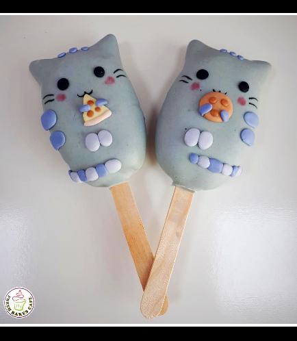 Cat-Pusheen Themed Popsicakes