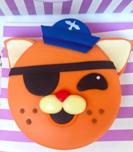 Octonauts Themed Cake - Kwazii's Face - 2D Cake