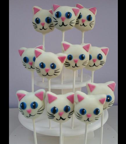 Cat Themed Cake Pops 1