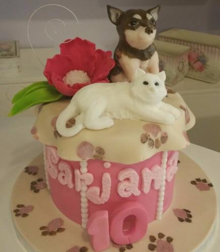 Cat & Dog Themed Cake