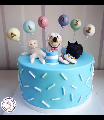 Cat & Dog Themed Cake 02