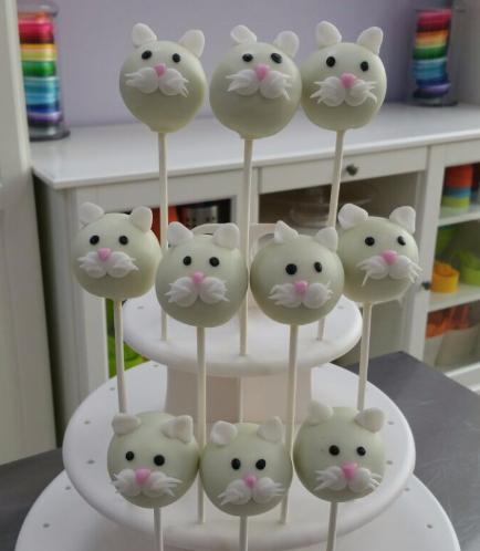 Cat Themed Cake Pops 2