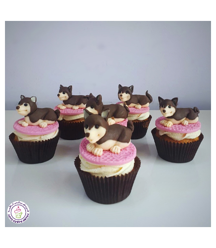 Dog Themed Cupcakes - 3D Cake Toppers 01