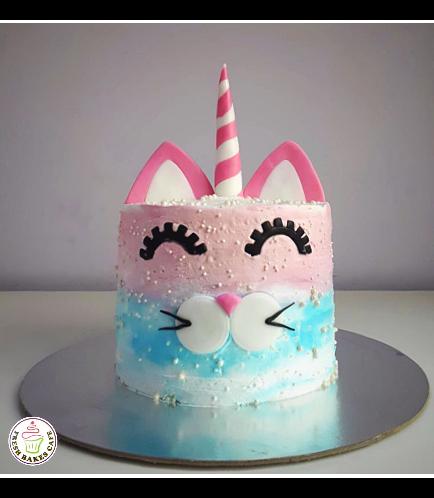 Cat Themed Cake - Cat Unicorn - Cream Cake
