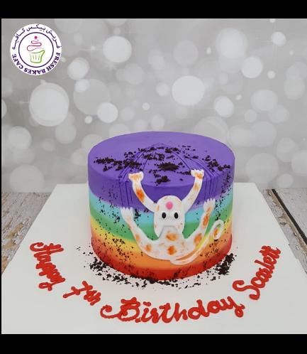 Cat Themed Cake - 2D Cake Topper 01b