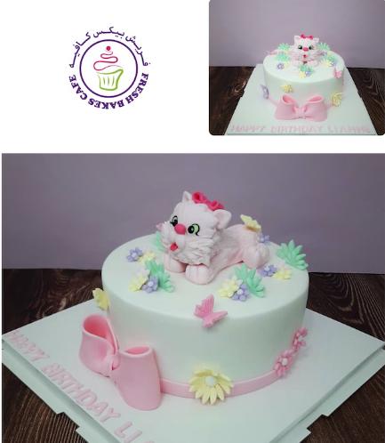 Cat Themed Cake - 3D Cake Topper 02