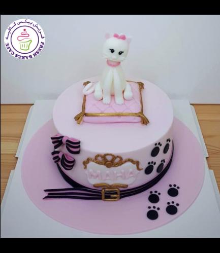 Cat Themed Cake - 3D Cake Topper 04