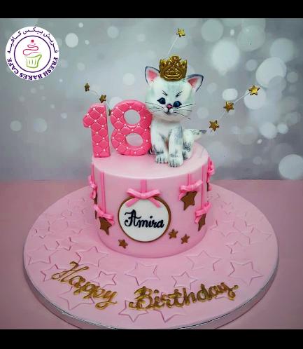 Cat Themed Cake - 3D Cake Topper 06