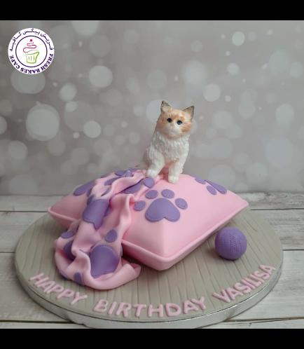 Cat Themed Cake - 3D Cake Topper 07