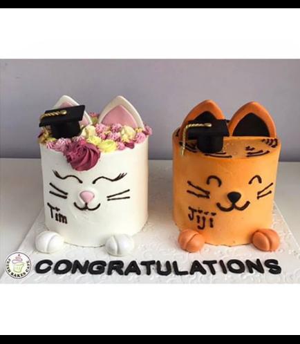 Graduation Cat Themed Cakes