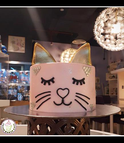 Cat Themed Cake - Cat Head - 2D Cake  - Fondant Cake 03