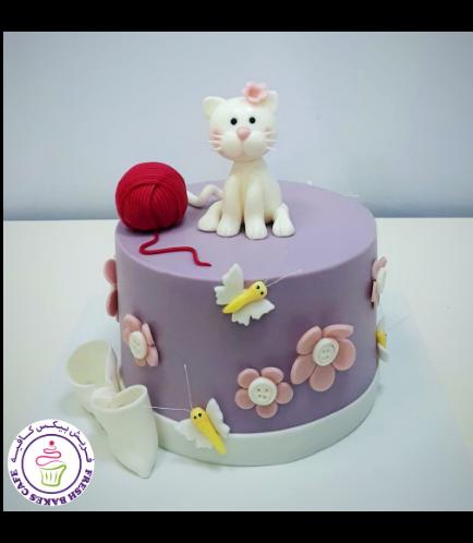 Cat Themed Cake - 3D Cake Topper 03