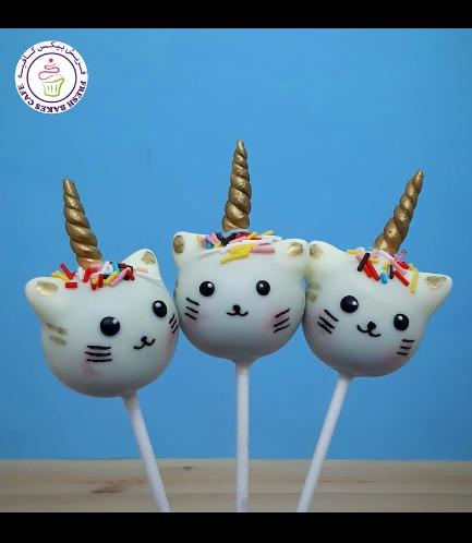 Cat Themed Cake Pops - Cat Unicorn 01