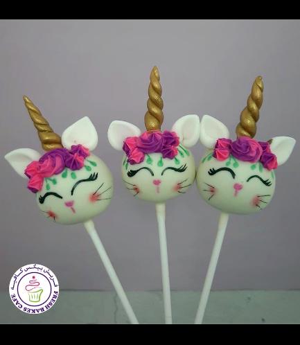 Cat Themed Cake Pops - Cat Unicorn 02