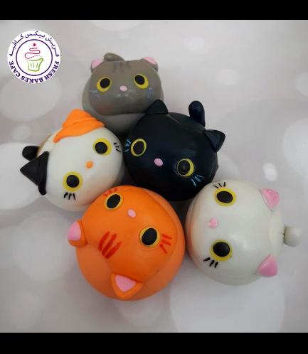 Cat Themed Cake Pops w/o Sticks 03