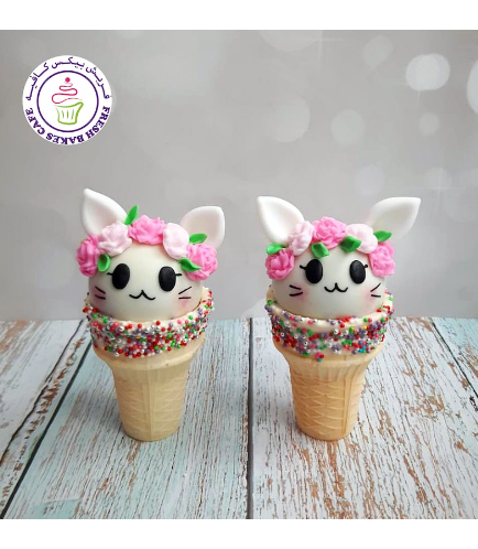 Cat Themed Cone Cake Pops 07