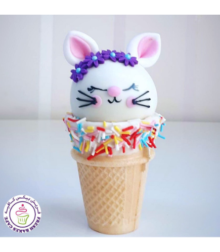 Cat Themed Cone Cake Pops 05