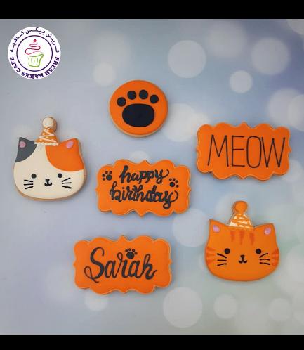 Cat Themed Cookies - Birthday Cookies